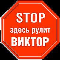 """Табличка на дверь """"STOP: Здесь рулит ВИКТОР!"""""""