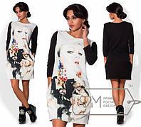 """Стильное молодежное платье мини """" 3D Принт девушка """" Dress Code"""