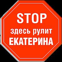 """Табличка на дверь """"STOP: Здесь рулит ЕКАТЕРИНА!"""""""