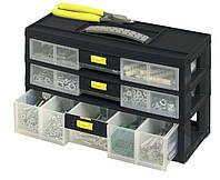 """Ящик инструментальный -органайзер пластмассовый с 3-мя ящиками """"Pack'n Latch"""" вертикальный"""