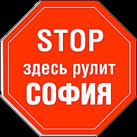 """Табличка на дверь """"STOP: Здесь рулит СОФИЯ!"""""""