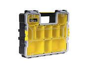 Ящик инструментальный-органайзер пластмассовый влагозащитный с металл. замками (44,6 x 11,6 x 35,7), фото 1
