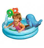 Бассейн круглый с дельфином и игрушками