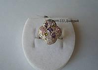 Розкішне кільце з кольоровими каменями, фото 1