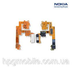 Шлейф для Nokia 5800, динамика, с камерой, с компонентами, оригинал