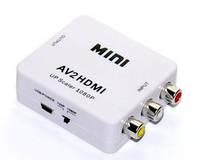 Преобразователь AV RCA тюльпан в HDMI конвертер переходник