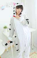 Пижама кигуруми серая кошка kigurumi М 156-165