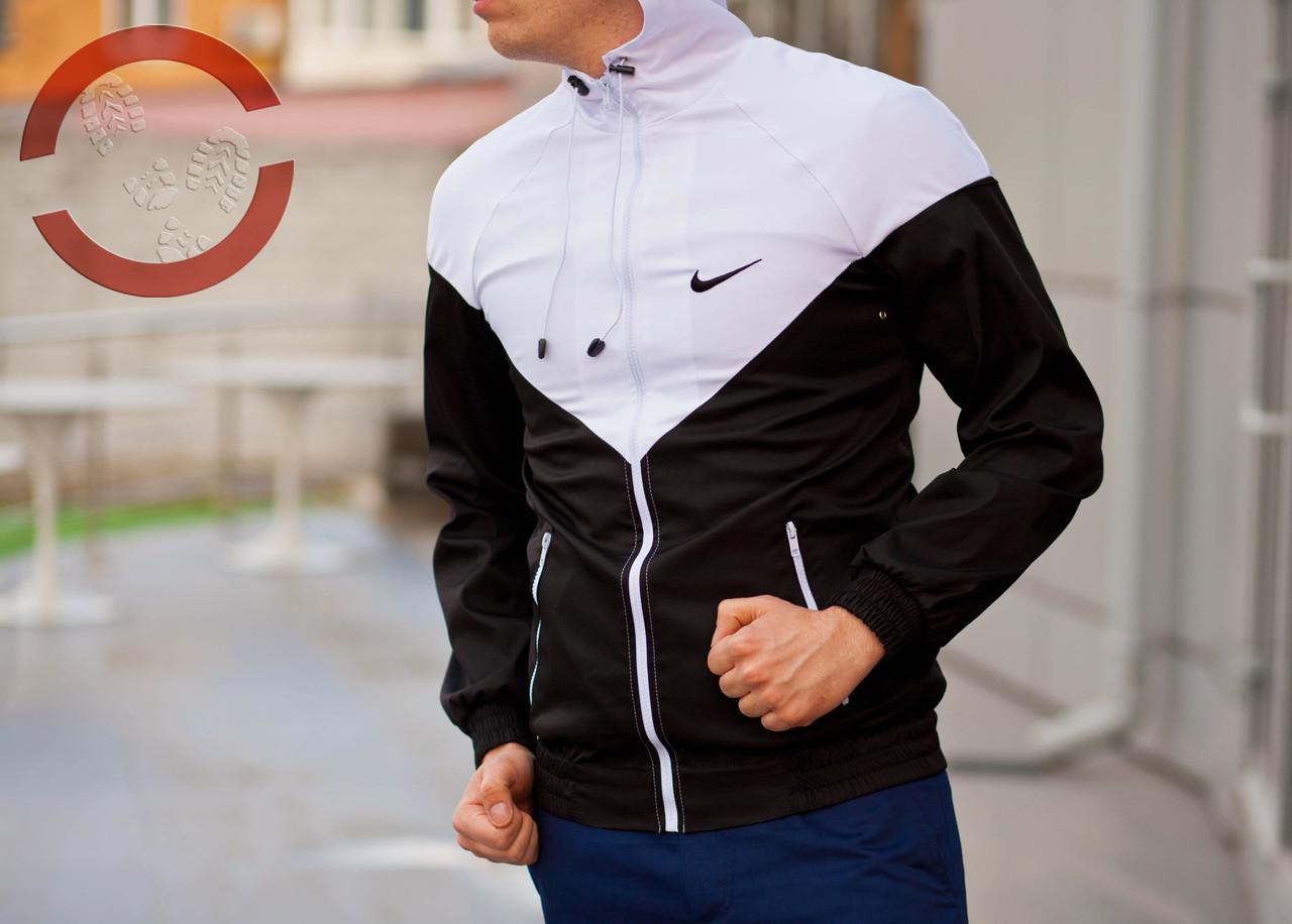 Ветровка (черно-белый), куртка, виндранер
