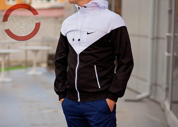 Ветровка (черно-белый), куртка, виндранер, фото 2