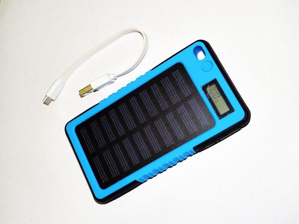 Power Bank Color 20000 mAh на солнечных батареях+LCD-экран