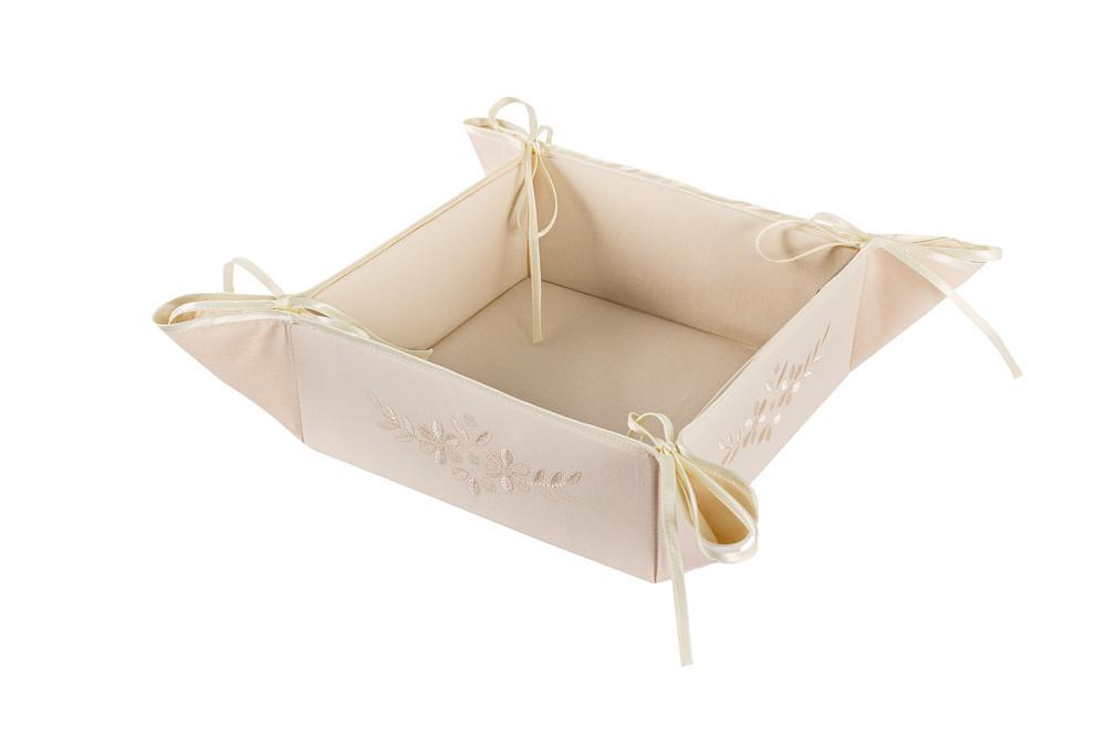 Хлебница для сервировки хлопковая белая, кремовая. - April House производство и продажа товаров для дома в Одессе