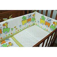 Комплект детского постельного белья на кроватку для новорожденного