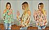 Шифоновая блузка с принтом и вырезами на плечах, фото 4