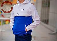 Анорак (бело-синий), куртка, виндранер