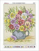 """""""Цветы в чашке"""". Канва для вышивки. Картины художников. Схема для вышивки"""