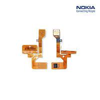 Шлейф для Nokia 6111, кнопок звука, вспышки, с компонентами (оригинал)