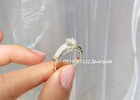 Стильное кольцо из серебра 925, фото 1