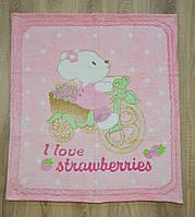 """Детский махровый плед-одеяло """"Мышонок"""" для малышей (розовый)"""