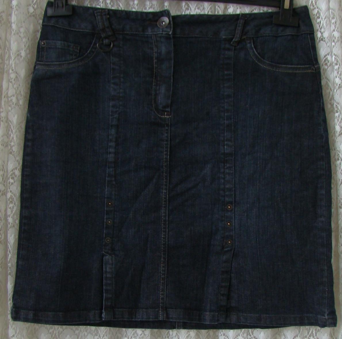 Юбка женская джинсовая модная демисезонная миди First Choice р.48 6334а, фото 1