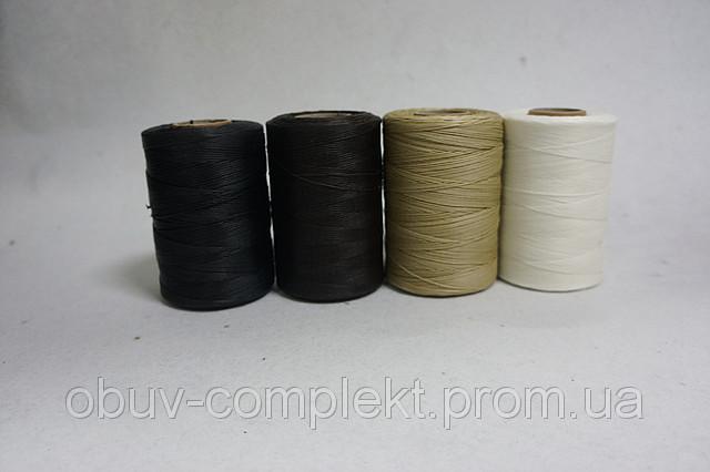 Нить вощенная Италия т.1,0 мм. 500 м. цв. черн., бел., беж., коричн., серый