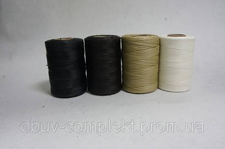 Нить вощенная Италия т.1,0 мм. 500 м. цв. черн., бел., беж., коричн., серый, фото 2