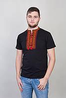 Вышитая мужская футболка с оригинальнным орнаментом