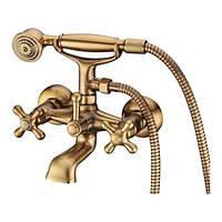 Смеситель Blue Water Retro RET-BWN 020 для ванной комнаты (старое золото)