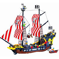 Легендарный пиратский корабль «Черная Жемчужина» с пушкам