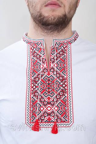 Вишита чоловіча футболка з класичним візерунком, фото 2