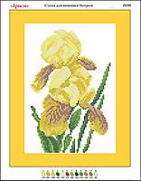 """""""Желтые ирисы"""". Канва (основа) для вышивки картины бисером. Цветы картина бисером. Схема для вышивки"""