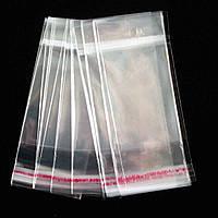 Пакет полипропиленовый с клапаном и липкой лентой 345 (высота 7,5 см*ширина 5 см) Упаковка 200 шт