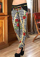 Яркие женские брюки из коттона