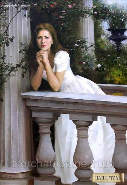 """Набір для створення об'ємної картини з паперу """"Дівчина у балюстради"""""""
