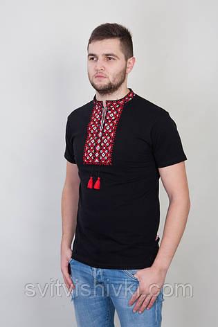 Чоловіча вишита футболка на короткий рукав, фото 2