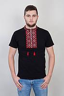 Мужская вышитая футболка на короткий рукав