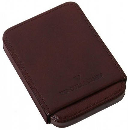 Чудесный чехол для визитных и кредитных карт Vip Collection 09B NY коричневый