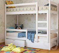 Кровать двухъярусная «Мира» из натурального дерева (Voldi)