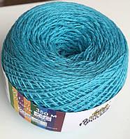 пряжа для ручного вязания голубая Хлопок 100%