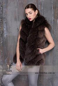 Короткий жилет из натурального меха Blue Frost Fox
