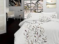 Комплект постельного белья vip сатин first choice евро размер casablanca krem