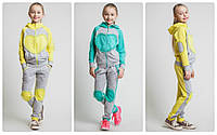 Спортивный  трикотажный костюм   для девочки  Сердце