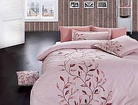 Комплект постельного белья vip сатин first choice евро размер casablanca pudra
