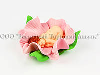 Фигурки из мастики - Младенец в цветке - Девочка