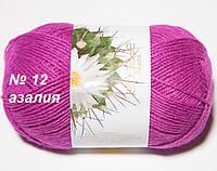 Пряжа для ручного вязания спицами Ареола акрил№12