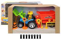 Детский игрушечный трактор с прицепом FD2018A-2
