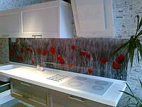 Кухонная стеновая панель из стекла на заказ