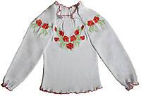 Вышиванка для девочки с длинными рукавами, рост 128-134 см