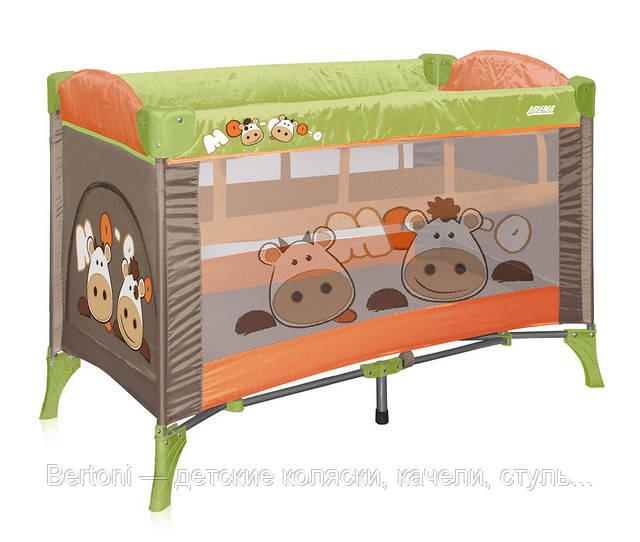 Детская кровать-манеж bertoni arena 2 - Bertoni — детские коляски, качели, стульчики для кормления, автокресла, манежи, одежда и обувь в Днепре