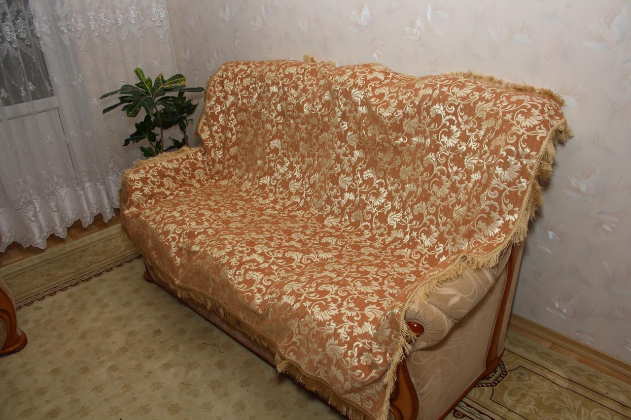 Лаура песочного цвета комплект покрывала (дивандеки) на диван и кресла