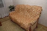 """""""Лаура"""" песочного цвета комплект покрывала (дивандеки) на диван и кресла"""